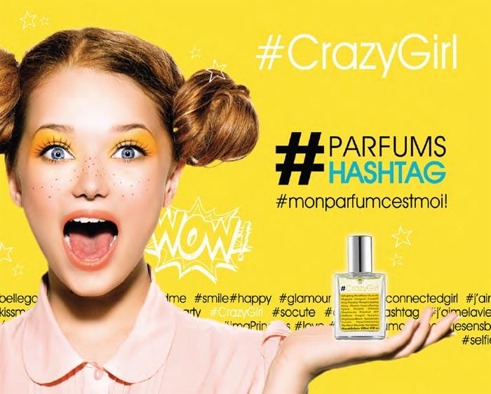 CRAZY GIRL, le dernier parfum signé #HASHTAG