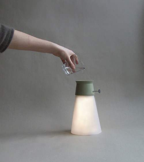 wat   la lampe qui fonctionne avec de l u2019eau