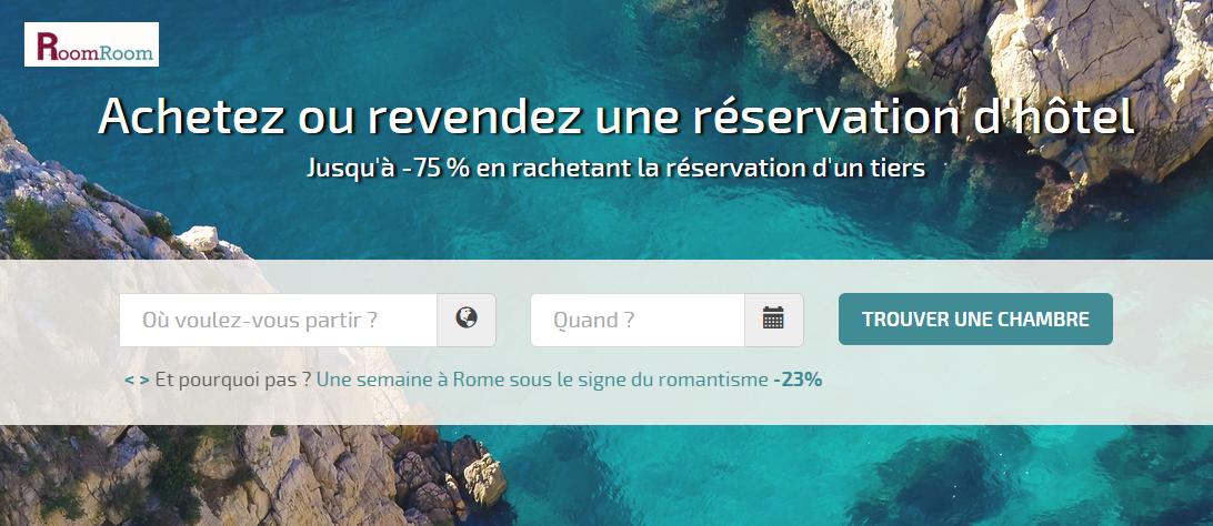 Roomroom.com : revendez votre réservation d'hôtel